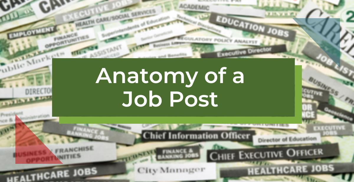 Anatomy of a Job Post [Infographic]