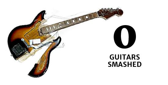 0 smashed guitars