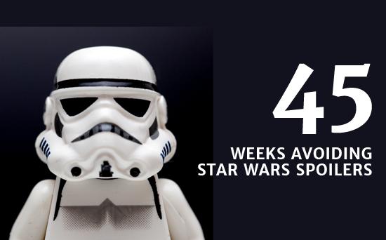 45 weeks avoiding Star Wars spoilers
