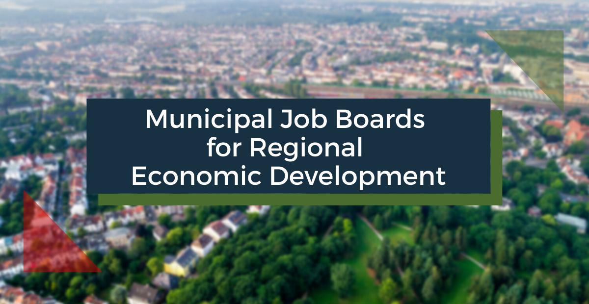 Municipal Job Boards for Regional Economic Development